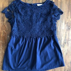 Lacy maternity blouse